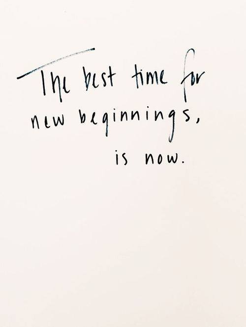 Best Time for New Beginnings